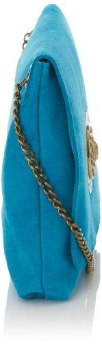 Beach Pavés Sac Bleu Turquoise The Love bandoulière On les Argent New Sous Velours wY5CSqU