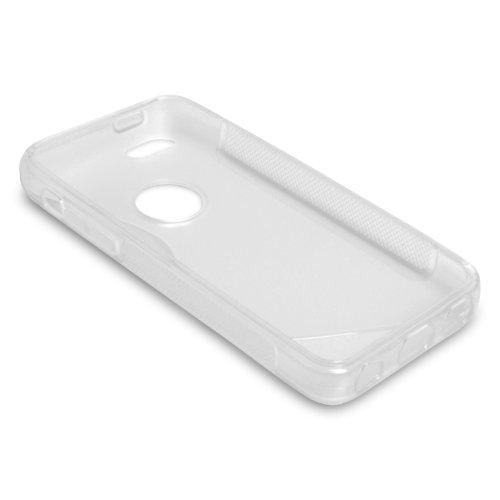 Caseflex Schutzhülle iPhone 5C Hülle Klare Silikon Gel S-Linie Case