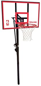 Spalding 88351 NBA 44in Polycarbonate Backboard In-Ground Basketball System
