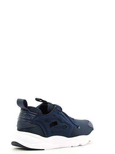 Reebok Furylite - Zapatillas de deporte, Niños Azul / Blanco (Collegiate Navy / White)