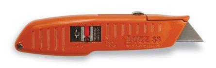 (Lutz 30188 #88 SpeedMaster Quick Change Retractable Blade Utility Knife - Orange (88-OR))