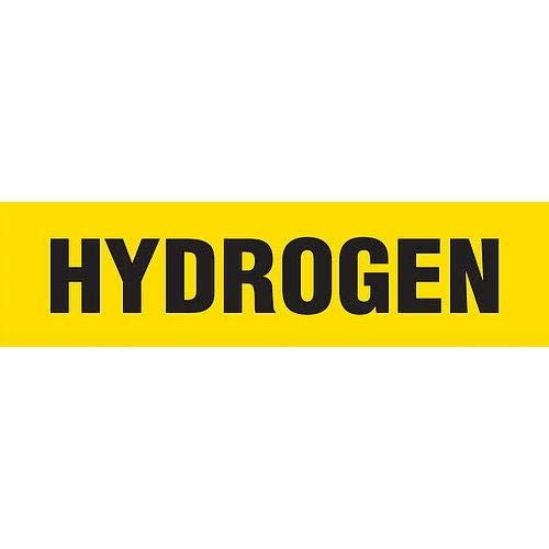 GHS Safety PM1183RA, Yellow Plastic Pipe Marker''Hydrogen'', Pack of 100 pcs