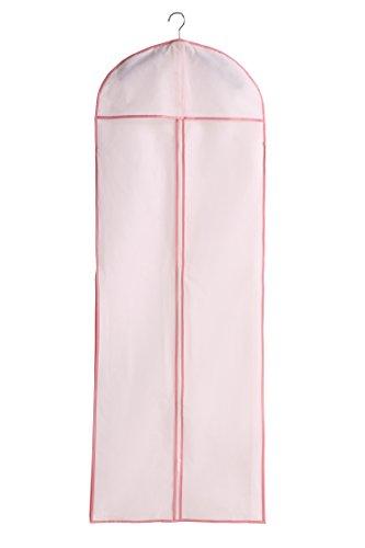 MicBridal® Koral/ Weiß Atmungsaktiver Einfach Wasserabweisend Kleidersack Schutzhülle für Brautkleider / Abendkleider / Anzüge / Mäntel- 180*60*10cm (1, Elfenbein)