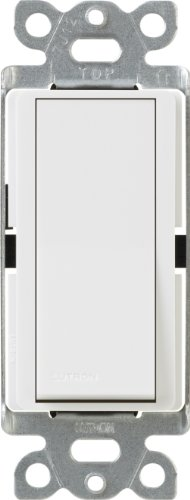 Off Switch - Lutron Claro On/Off Switch, 15-Amp, Single-Pole, CA-1PS-WH, White