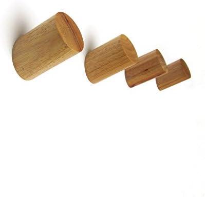moderno juego de cuatro unidades madera 5.5X3 color natural natural estilo escandinavo Perchero de pared de madera de roble maciza