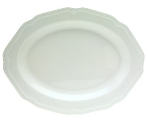 Mikasa Antique White Oval Serving Platter, 14-Inch