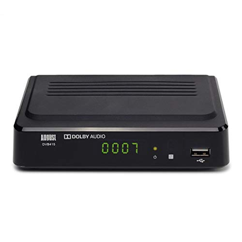 August Freeview Box Recorder HD DVB415 - HDMI and Scart Set Top Box with PVR for Recording Your Favourite Shows