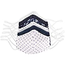 Perry Ellis Reusable Woven Fabric Face Masks (Pack of 6, Assorted Prints and Colors)
