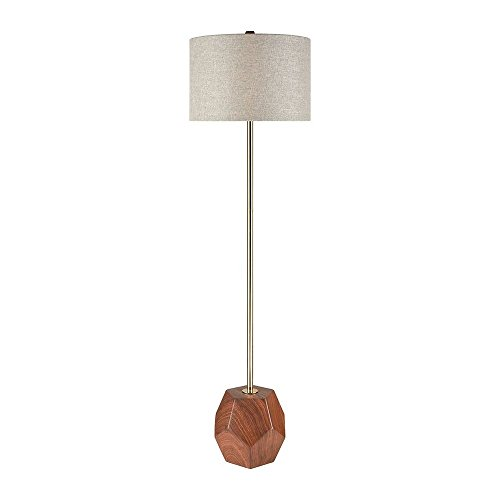 - Diamond Lighting D3628 Floor lamp, Mahogany Wood Tone, Antique Gold