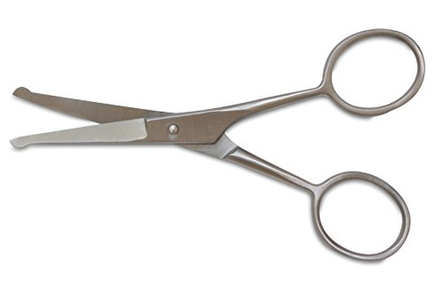 Mars-Professional-Stainless-Steel-Ball-Tip-Scissors-Microserrated-Blunt-Points-45-Length-For-use-with-Faces-Ears-and-Paws
