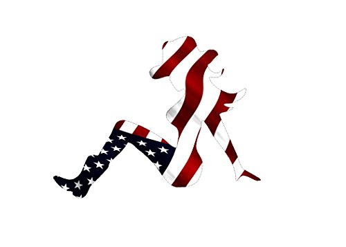 Decal Sticker Sexy Woman Cowgirl Country Cow Girl Silhouette American Flag USA Patriotic Auto Bumper Sticker Vinyl Car Truck RV SUV Boat Window - Cowgirl Decal Sticker