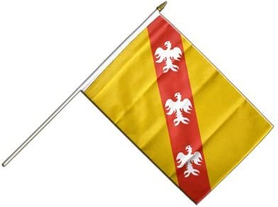 Digni/® Drapeau France Lorraine sur hampe