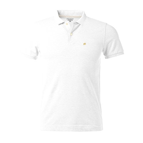 Banana Republic Pique Elephant Logo Polo Shirt (S, White)