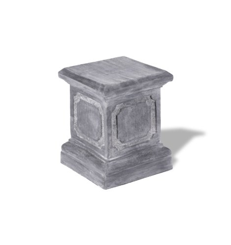 Amedeo Design ResinStone 1900-1G Paneled Pedestal, 15 by 15 by 20-Inch, Lead Gray by Amedeo Design