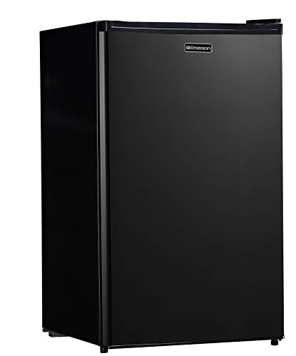Emerson CR440BE 4.4 Cubic Foot Compact Single Door Refrigerator, cu. ft, Black