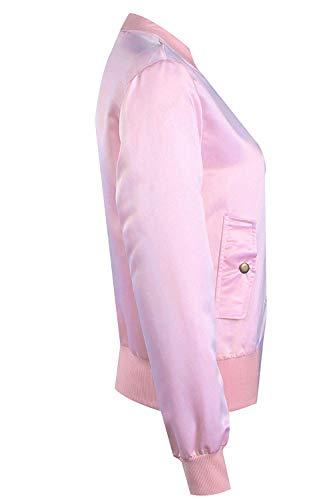 Femme Automne coloré Longues Pour Manteau À Casual Oudan Rose Manches Taille Printemps Rose Medium zqIHnx8E