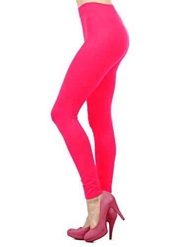 Ekimo T-USA Seamless Stretch Full Length Basic Leggings Halloween Costumes (Neon -