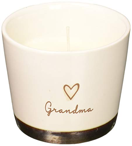 Pavilion Gift Company Pavilion-Grandma 8oz Tranquility Scented Gift Ribbon Soy Wax Candle 8 oz Cream ()