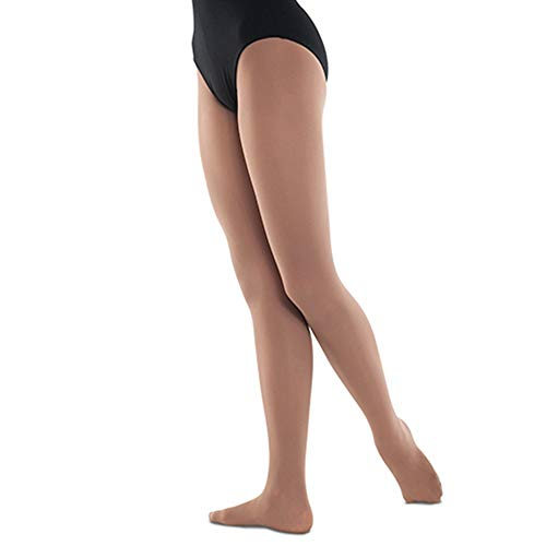 Tights Danshuz Nylon - Danshuz Womens Light Suntan Soft Stretchy Nylon-Micro Spandex Tights A-B