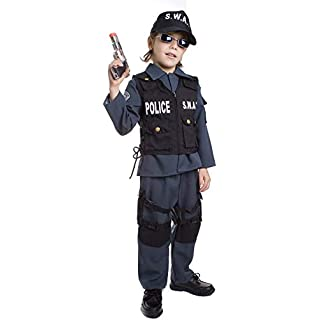 Dress-Up-America Kids SWAT Costume - Deluxe S.W.A.T. Police Officer Dress-Up Set For Boys & Girls