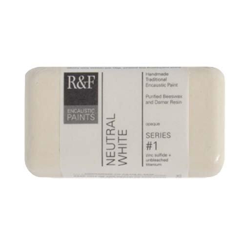 (R&F Encaustic 40ml Paint, Neutral White)