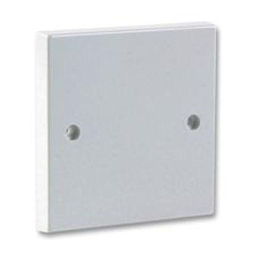 Kenable 1 Gang Blanking Plate for Single Gang Back Box White Finish + - Blanking Plate