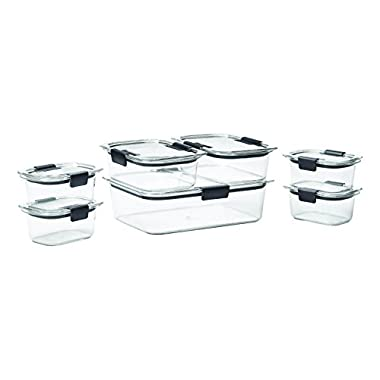 Rubbermaid Brilliance Food Storage Container,  BPA-free Plastic, 14-piece Set, Clear