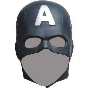 [CAPTAIN AMERICA The Avengers Mask Rubber Party Mask Full face Head Costume] (Captain America Costumes For Adults)