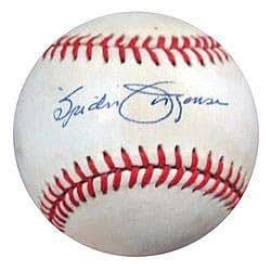 Spider Jorgensen Signed National League Baseball Dodgers