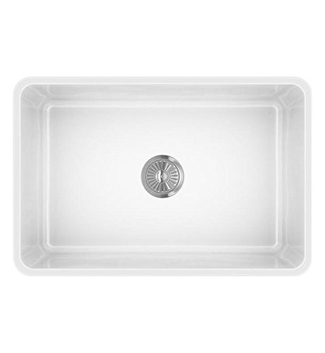 LaToscana LTW2718W Farmhouse Fireclay Kitchen Sink, White by La Toscana