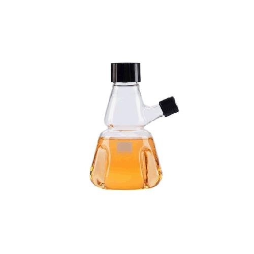 Wheaton Science Products 355804 Borosilicate Glass Trypsinizing Flask with Septum and Cap, Graduated, 150 mL Capacity, 38-430 Cap Size