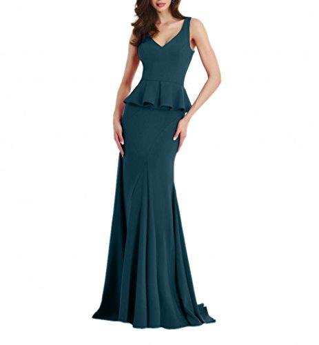 Abendkleider Fesltichkleider Partykleider Promkleider Braut mia Etuikleider Damen La Elegant Lang Meerjungfrau Blau Tinte wqYAwxvT