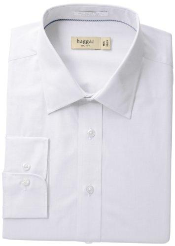 Haggar Regular Fit Poplin Solid Long Sleeve
