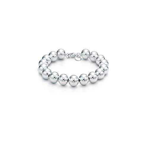 - Verona Jewelers Sterling Silver 4MM-10M Italian Bead Ball Chain Bracelet- Handmade Bead Italian Bracelet, Silver Bead Bracelet for Women (7.5, 8MM)