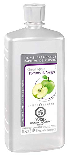 Green Apple | Lampe Berger Fragrance Refill for Home Fragrance Oil Diffuser | Purifying and perfuming Your Home | 33.8 Fluid Ounces - 1 Liter | Made in ()