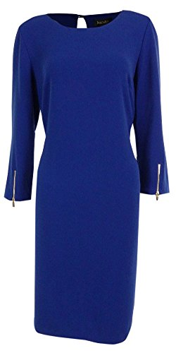 laundry by SHELLI SEGAL Women's Keyhole Shift Dress (8, Sapphire)