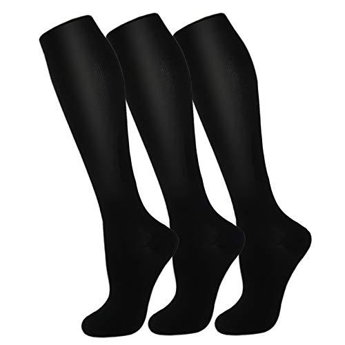 3 Pack Copper Compression Socks – Compression Socks Women & Men Circulation – Best for Medical,Running,Athletic
