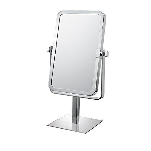 (Mirror Image 80643 Rectangular Vanity Mirror, 1X and 3X Magnification, Chrome)