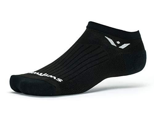 Swiftwick - Performance Zero | Socks Built for Running and Golf | Fast Drying, Cushioned No-Show Socks