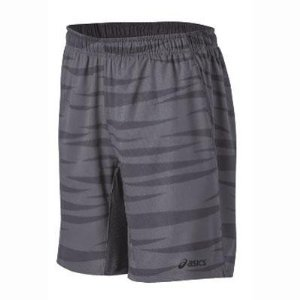 Asics Men's 2-n-1 Tennis Short, Stone, Small