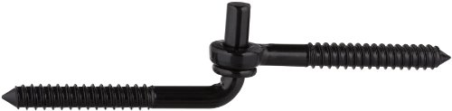 (Stanley Hardware S760-475 953 Screw Hook & Eye Hinge in Black, 1/2