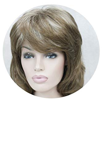 Long Shaggy Layered Dark Auburn Classic Cap Full Synthetic Wig Women's Wigs,12TT26,16inches ()