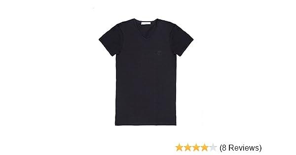 0235588f Amazon.com: Versace Collection Men's Black Cotton V-neck Medusa Undershirt T -shirt Viovc01: Clothing