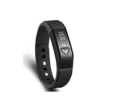 VENUS Flex Wireless Activity and Sleep Wristband Bluetooth V4.0 Pedometer Smart Wristband Bracelet with Sports Sleep Tracking Activity Tracker Black