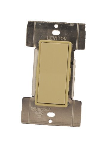 Leviton MS00R-10I Mural Digital Rocker Remote Dimmer, 3-Way and 4-Way, Ivory ()