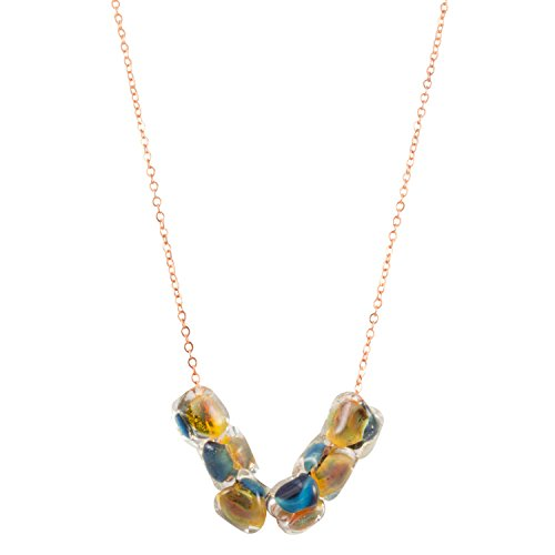 Genuine Venice Murano Glass Beads Pendant Necklace, 18