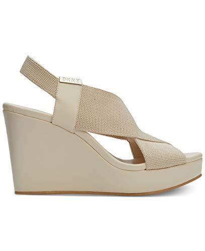 DKNY Womens Jamara Open Toe Casual Platform Sandals, Tan/Beige, Size 8.0