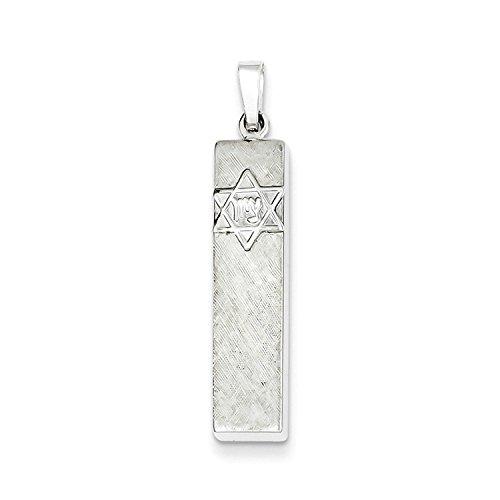 Mezuzah Polished Pendant (Sterling Silver Polished Mezuzah Pendant)