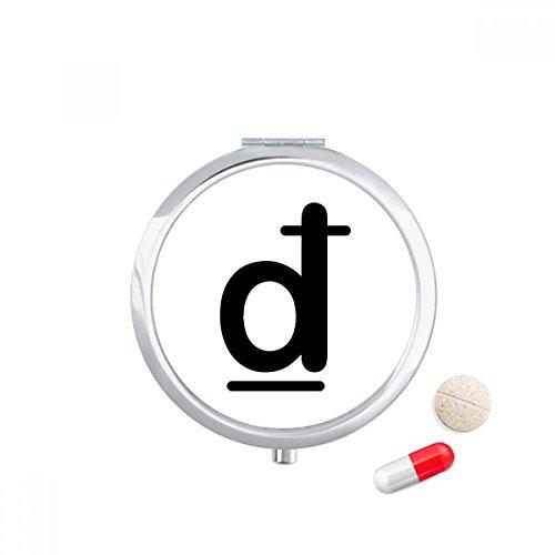 Currency Symbol Vietnamese Dong Travel Pocket Pill case Medicine Drug Storage Box Dispenser Mirror Gift