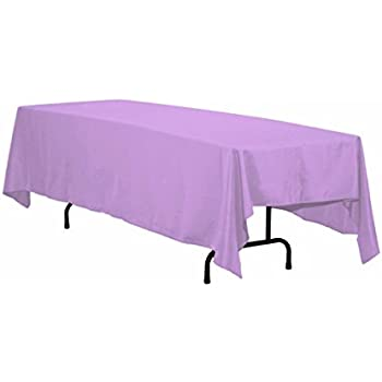 Great LinenTablecloth Rectangular Polyester Tablecloth, 70 By 120 Inch, Lavender